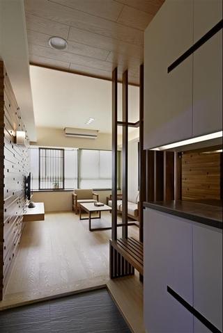 原木咖色系日式小户型设计图