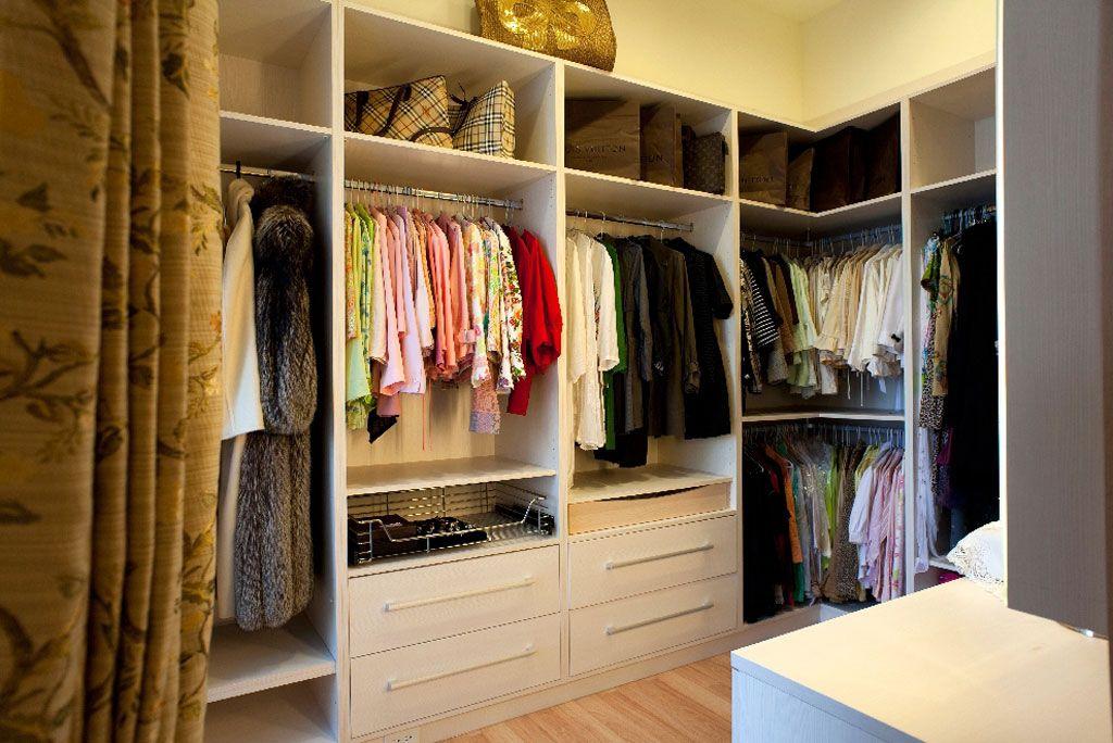 美式设计衣帽间衣柜展示
