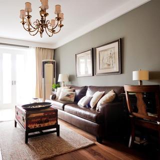 60平休闲复古美式 两室设计图