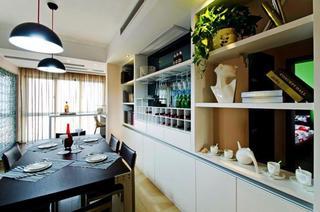 现代简欧风餐厅 整体展示架效果图