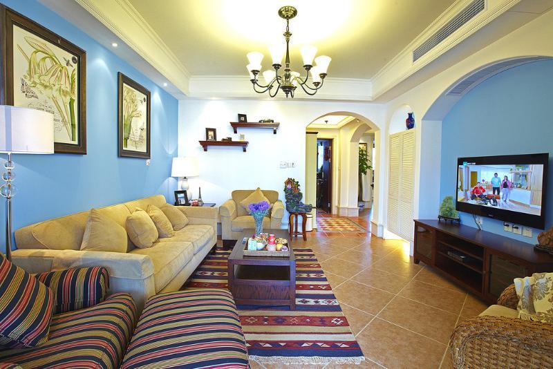 地中海风格三室两厅装修美图