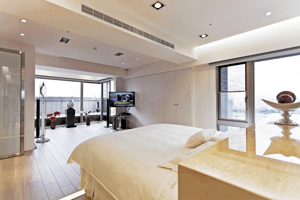 现代简约 酒店式公寓卧室效果图