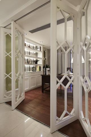 浪漫复古美式书房折叠门设计