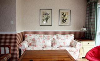 美式乡村风家居布艺沙发装饰