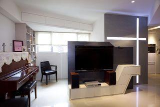 黑白简洁风情公寓装饰设计