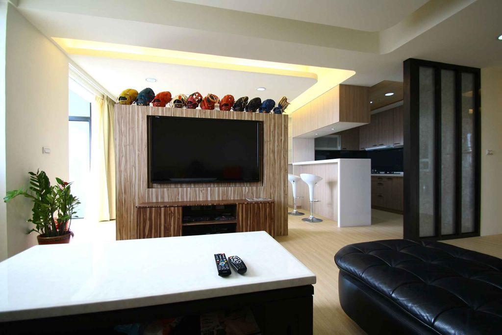 现代风格客厅实木电视柜设计