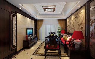 现代中式结合别墅家装效果图