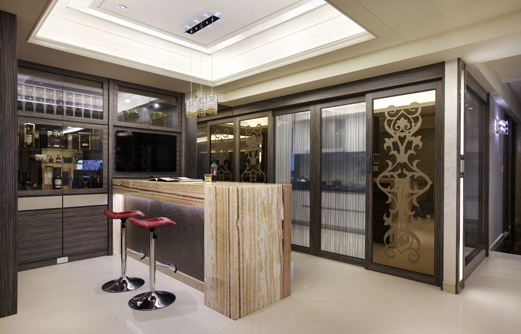 现代时尚家居酒柜吧台设计