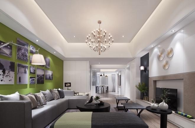 现代简约公寓客厅精装欣赏