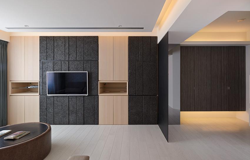 宜家美式电视背景墙效果图