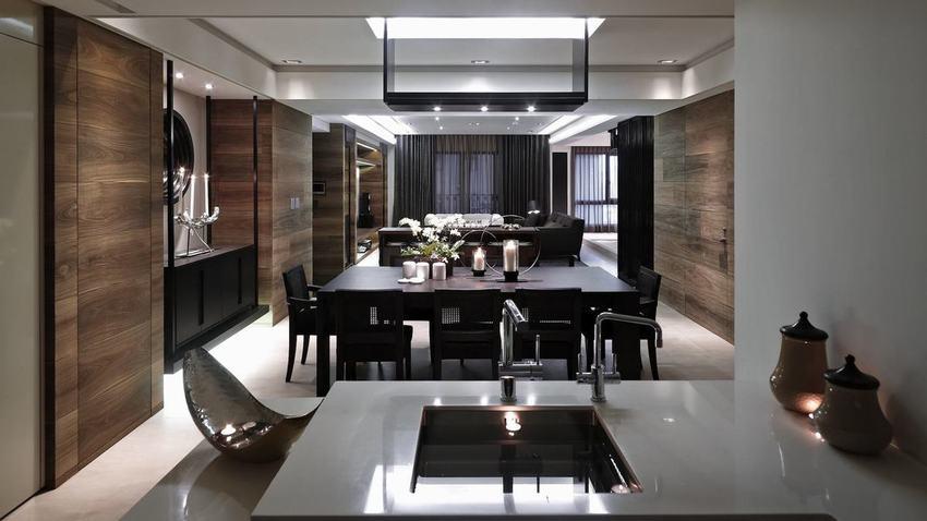 新中式风格 复式一楼装修效果图