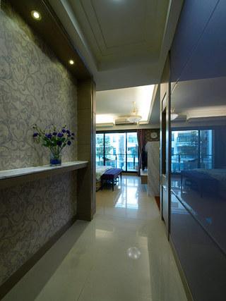 现代家装过道壁纸装饰图