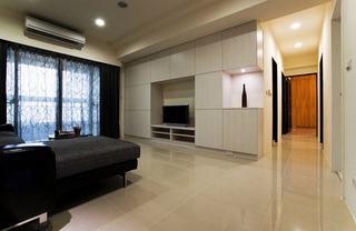 简约现代92平三室两厅装修图