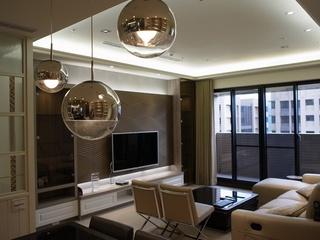 后现代风装修80平公寓效果图