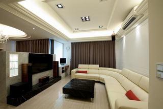 时尚现代125平三居室内效果图