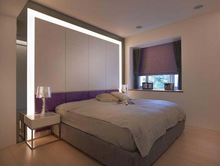 简约现代卧室灯带设计