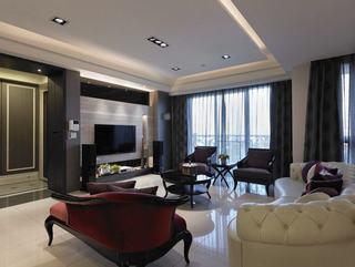 时尚现代简欧风客厅设计