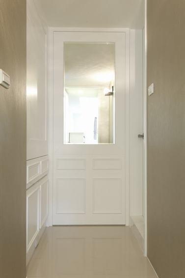 简约美式家居白色室内门设计
