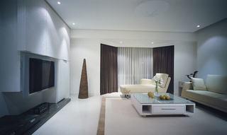 极简后现代风格两室两厅效果图