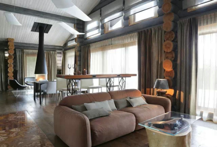 东南亚气息家居室内窗帘装饰效果图