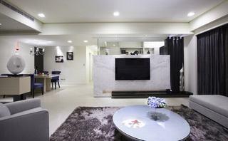 现代家装客厅 大理石电视背景墙设计