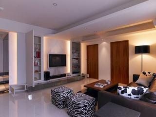 现代简约65平二居家装设计