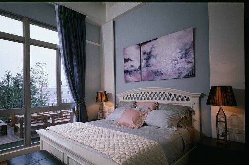 宜家风格卧室窗户效果图