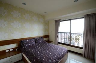 现代家装卧室花朵墙纸装饰