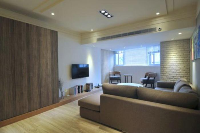 休闲日式客厅 电视背景墙设计图