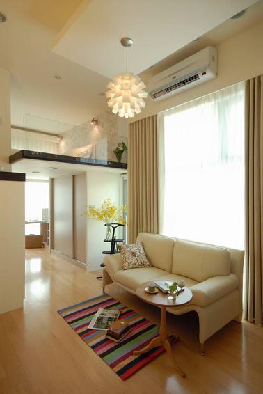 优雅宜家风跃层 小客厅设计