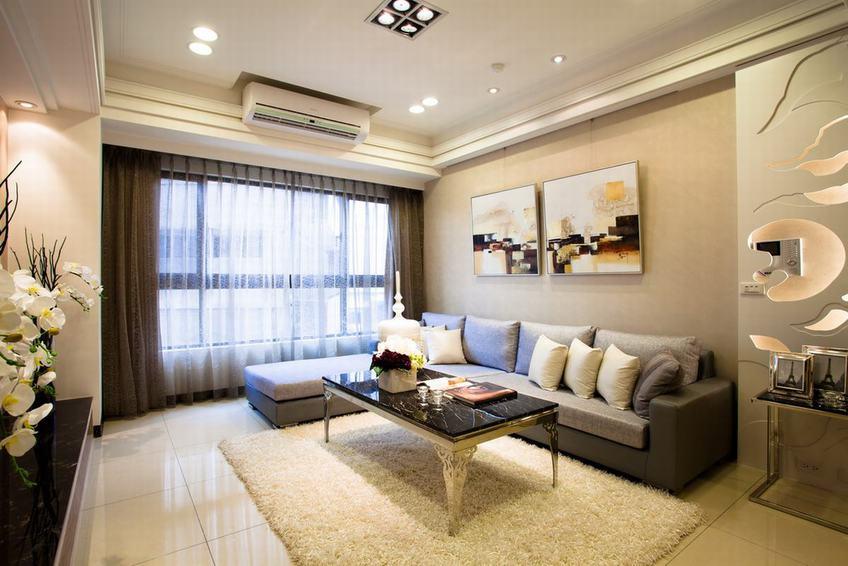 中信城现代简约风格客厅装修效果图