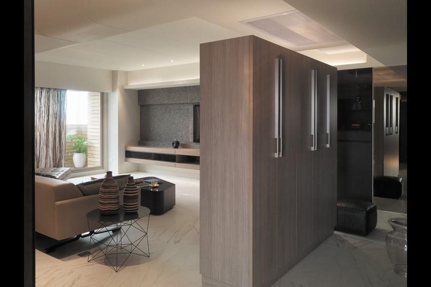 现代时尚家居室内隔断柜设计
