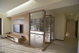 时尚现代书房玻璃折叠门设计