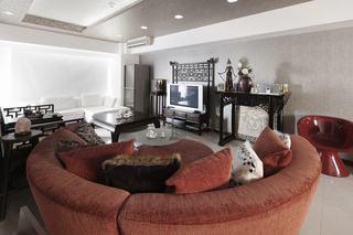 现代中式混搭客厅装饰大全