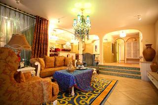 优雅浪漫地中海风格设计三室两厅室内装饰图片