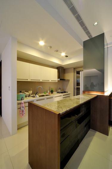 简约现代厨房吧台设计