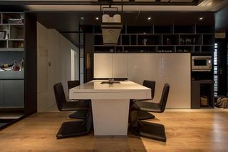 黑白现代家装餐厅效果图
