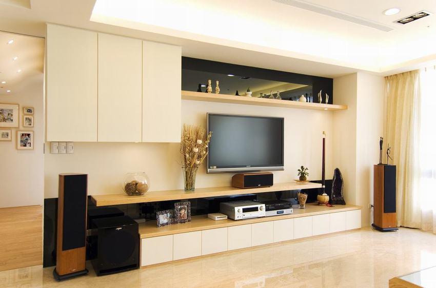 简约日式电视背景墙设计