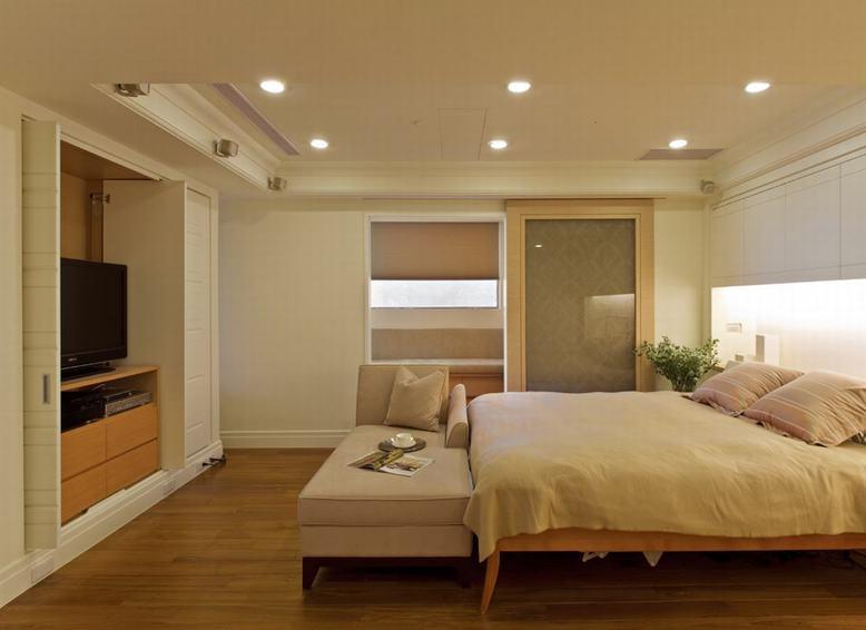 简约美式卧室电视柜设计