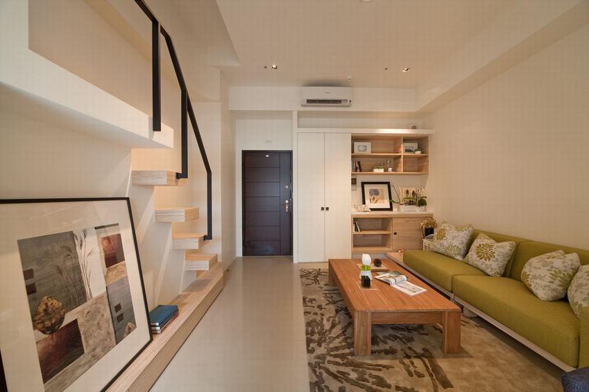 日式简约客厅沙发效果图