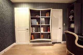 个性简欧式书房 书柜效果图