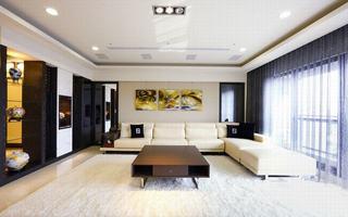 现代家装客厅吊顶设计