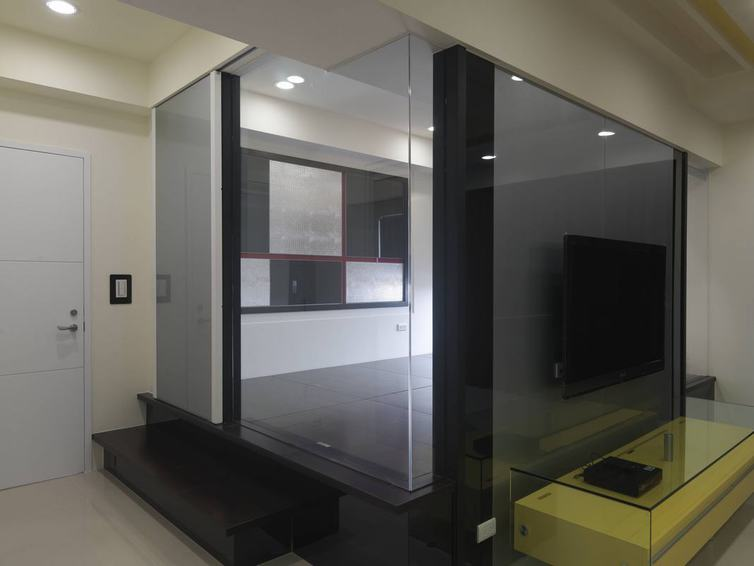 现代风格大理石电视背景墙效果图