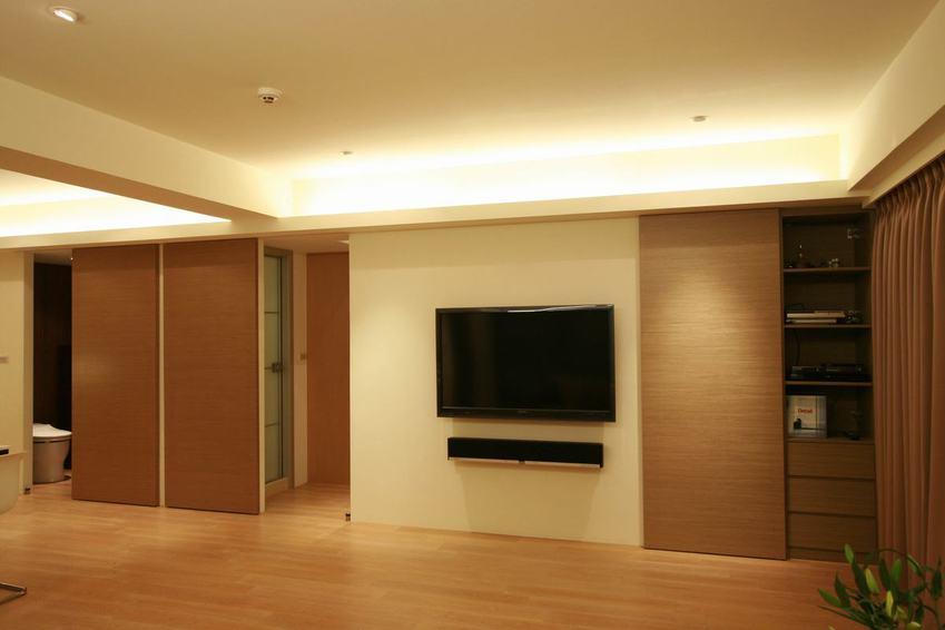 时尚日式电视背景墙效果图