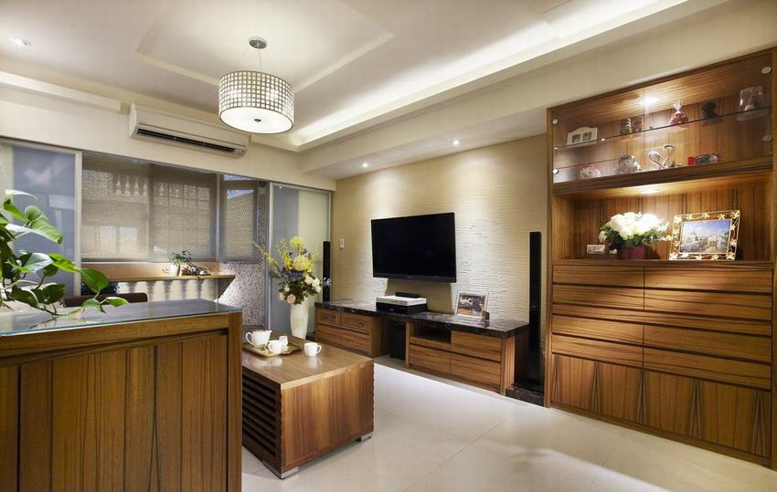 现代时尚客厅实木家具装饰
