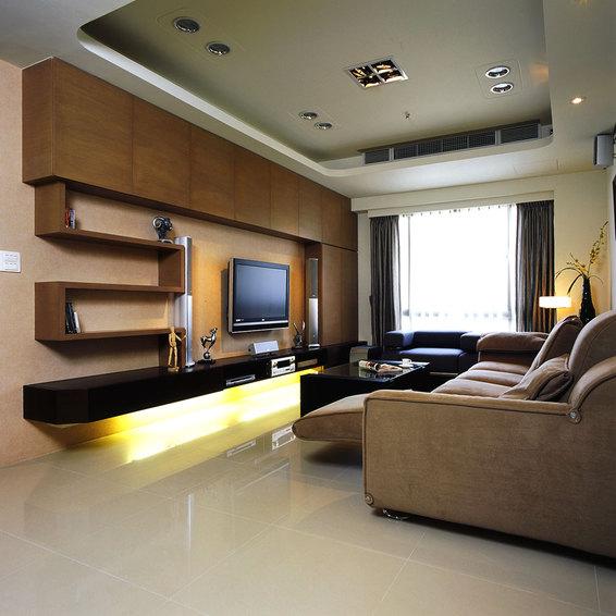现代时尚客厅 电视背景墙效果图