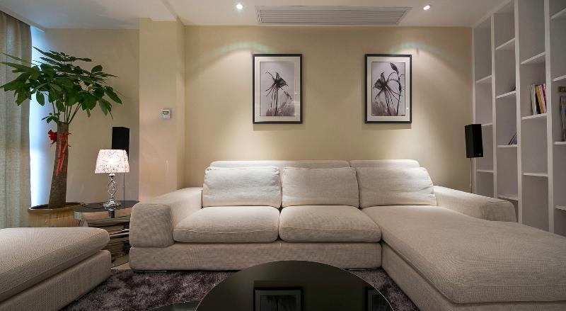 宜家风客厅沙发背景墙效果图