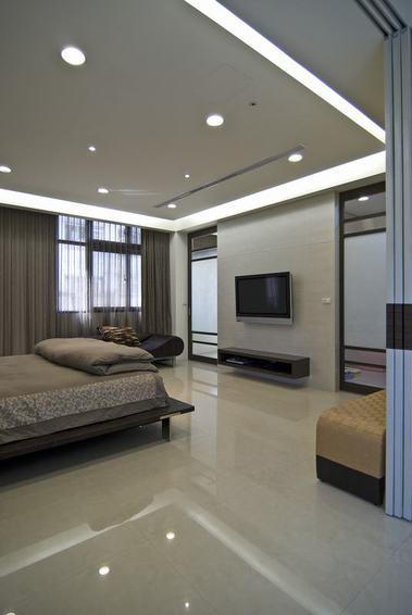 素雅现代卧室灯带装饰效果图