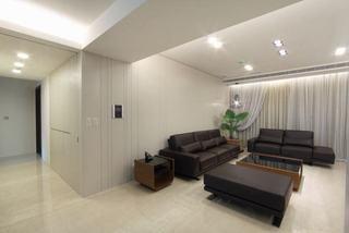 黑白简约现代两室两厅借鉴图