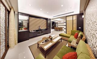 混搭设计140平四室两厅效果图